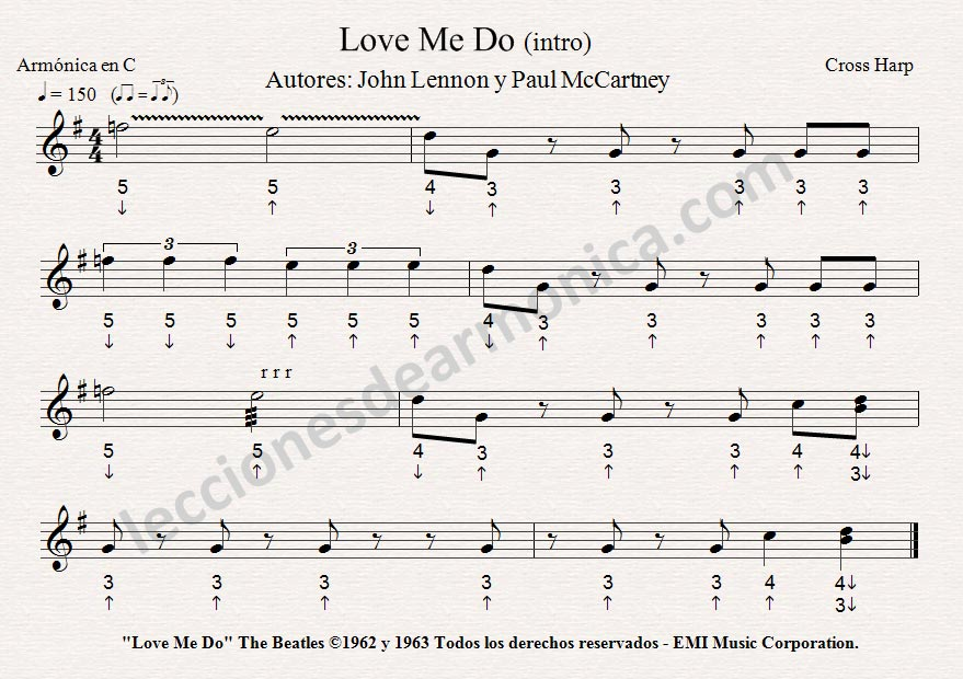 Partitura de Love Me Do