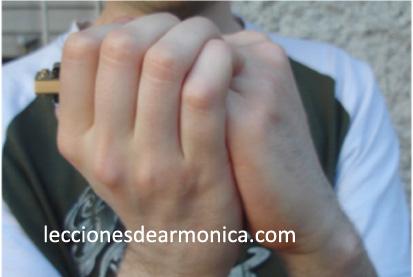 hold the harmonica step 1