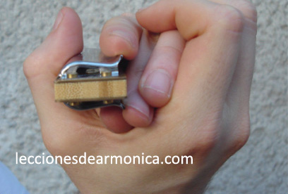 hold the harmonica step 2